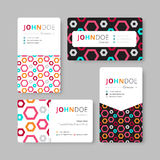 Geometry business card template. Cover, Flyer, Leaflet template. Stock Image