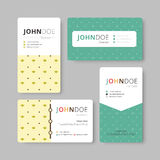 Geometry business card template. Cover, Flyer, Leaflet template. Stock Photos
