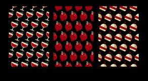 Geometry cafe pattern. luxury food poster set. Stock Photo