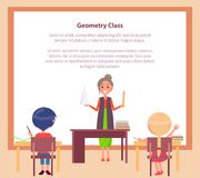Geometry Class Web Banner with Place for Text Stock Photos