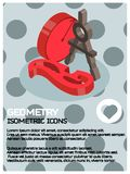 Geometry color isometric poster. Vector illustration, EPS 10 Royalty Free Stock Photography