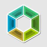Geometry colorful technology vector logo, Hexagon element symbol Stock Image