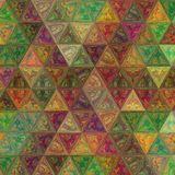 Sacred geometry of colorful triangles mosaic stock photos