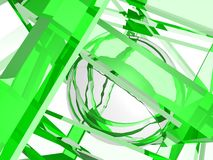 Geometry composition in green Royalty Free Stock Photo