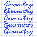 The geometry of different hands on notebook sheet Royalty Free Stock Photography