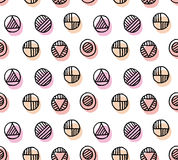 Geometry dot seamless pattern Royalty Free Stock Images