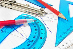 Geometry equipment close up Stock Photography