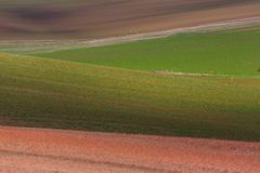 Geometry of fields. Autumn in Moravia Stock Photo