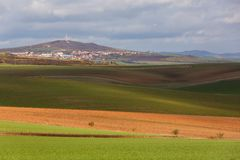 Geometry of fields. Autumn in Moravia Stock Photography