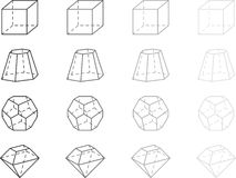 Geometry figures Royalty Free Stock Images