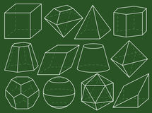 Geometry figures Royalty Free Stock Photos