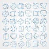 Geometry figures Stock Photos