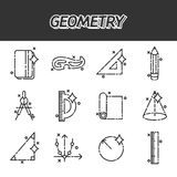 Geometry flat concept icons. Template for covers, flyers, banners, posters and placards, may be used for presentations and books. Vector illustration, EPS 10 Royalty Free Stock Photo