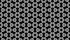Geometry floral, black and white abstract seamless pattern Royalty Free Illustration