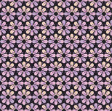 Geometry flowers seamless pattern. Royalty Free Stock Photos