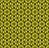 Geometry flowers seamless pattern. Stock Images