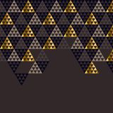 Geometry gold header vector illustration. Royalty Free Stock Image