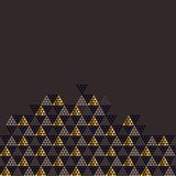 Geometry gold header vector illustration. Stock Photography