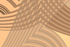Geometry grace - in beige. Abstract elegant background with the bright pattern of the glowing ornament Stock Photography