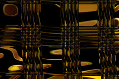 Geometry grace - in gold. Abstract elegant background with the bright pattern of the glowing ornament Royalty Free Stock Images
