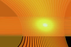 Geometry grace - in orange. Abstract elegant background with the bright pattern of the glowing ornamental lines Royalty Free Stock Photography