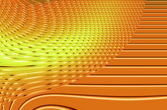 Geometry grace - in orange. Abstract elegant background with the bright pattern of the glowing ornamental lines Stock Image