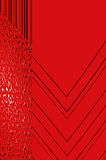 Geometry grace - in red. Abstract elegant background with the bright pattern of the glowing ornament Stock Image