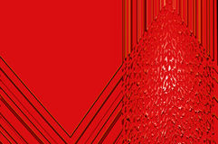 Geometry grace - in red. Abstract elegant background with the bright pattern of the glowing ornament Royalty Free Stock Photo