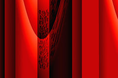 Geometry grace - in red. Abstract elegant background with the bright pattern of the glowing ornament Stock Photography