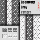 Geometry Gray Pattern Stock Image