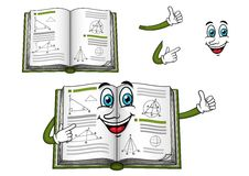 Geometry happy textbook cartoon character Royalty Free Stock Images