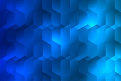 Blue hexagon vertical background. The geometry have been created as a background for usability royalty free illustration