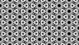 Geometry hexagon, black and white abstract seamless pattern Vector Illustration