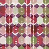 Geometry hexagonal vector seamless pattern. Royalty Free Stock Images