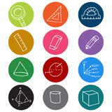 Geometry Icon Symbols Stock Photos