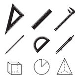 Geometry icons Stock Images