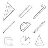 Geometry icons Royalty Free Stock Photo