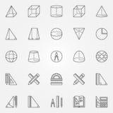 Geometry icons set Stock Photos