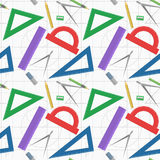 Geometry instruments seamless pattern Stock Image