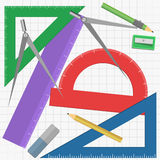 Geometry instruments Royalty Free Stock Images