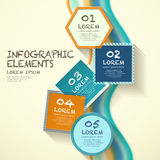 Geometry label infographic elements Stock Images