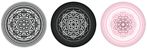 Geometry mandala for coloring book and your design. Circle pattern. Royalty Free Stock Images