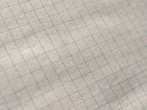 Checkered paper texture background. Geometry or maths notebook checkered paper useful as a background Stock Photo