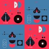 Geometry and nature geometric pattern. Minimal geometric series Royalty Free Stock Image