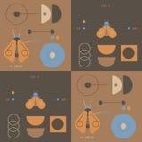 Geometry and nature geometric pattern. Minimal geometric series Stock Images