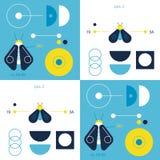 Geometry and nature geometric pattern. Minimal geometric series Stock Photos