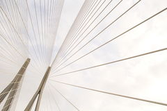 Geometry Of Suspension Bridge Royalty Free Stock Images