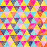 Geometry pattern of colorful triangle with texture Royalty Free Stock Images