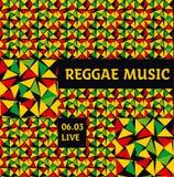 Geometry reggae color music background. Royalty Free Stock Image