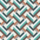 Geometry rhombus vector seamless pattern Royalty Free Stock Image